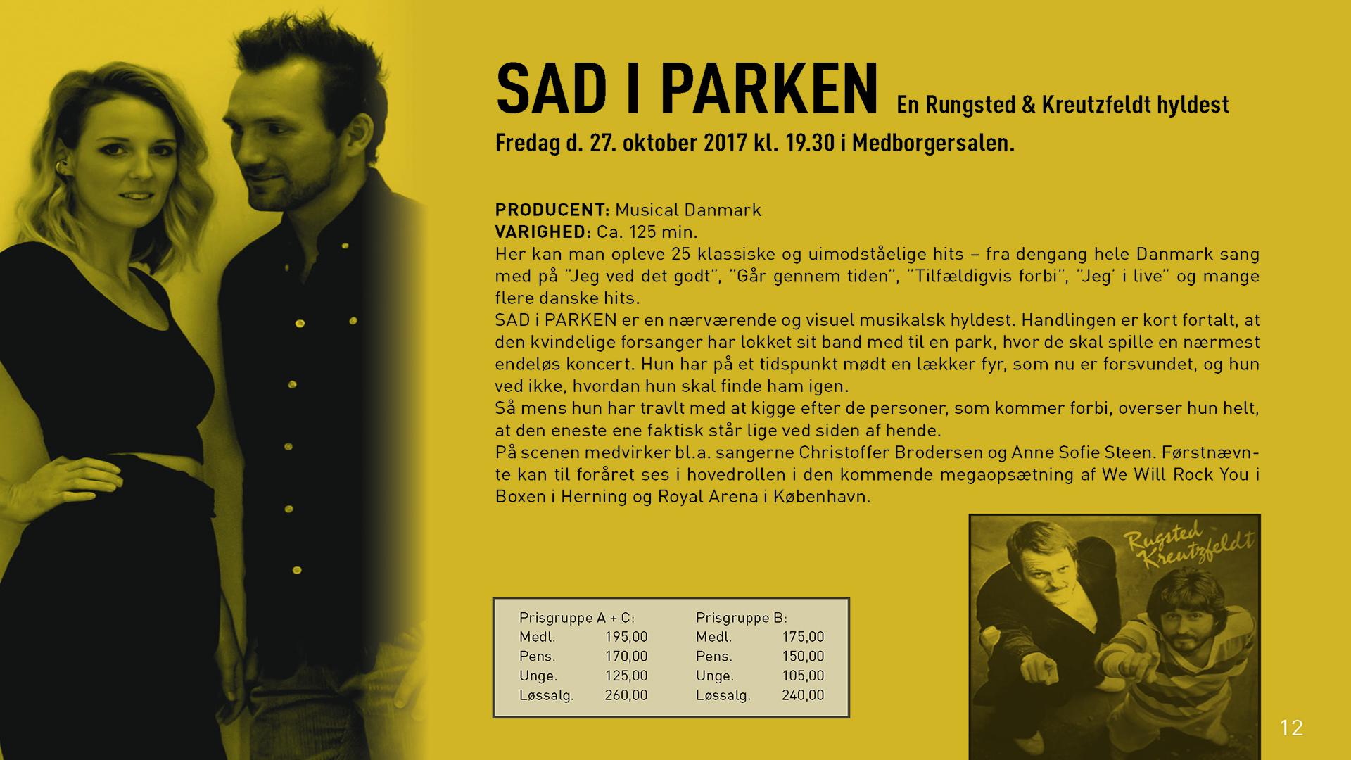 Sad I Parken - en Rugsted & Kreutzfeldt hyldest