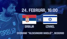 FIBA Basketball 2019 WCQ - SRBIJA - IZRAEL