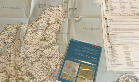 Turistkort over Danmark