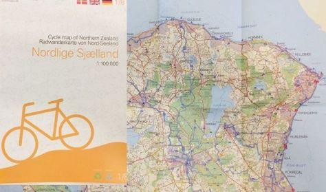 Nordlige Sjælland Cykelkort
