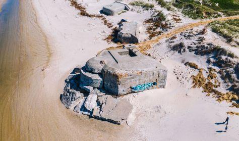 Bunkertur ved Houvigfæstningen (Tysk)